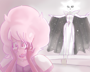 A Little Sad  Pink Diamond by Azurphore