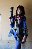 Fallout: NV, the Courier by fangirlasylum