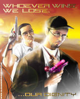 critic vs the nerd poster by Alithegreen