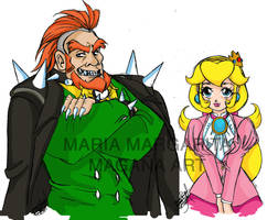 Mr and Mrs Koopa by selene-nightmare69