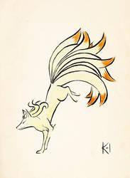 Ninetales by Kaze-no-Inaya