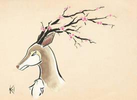 Sawsbuck - Spring by Kaze-no-Inaya