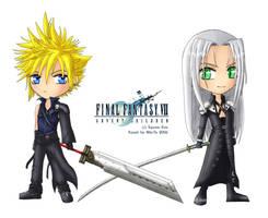 FF VII:AC - Cross Swords by Niki-Te