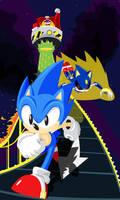 Sonic CD Contest Art by K-Fujiwara