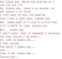 Sasuke X Gaara +TEXT+ by Angie-SiL3Nc3