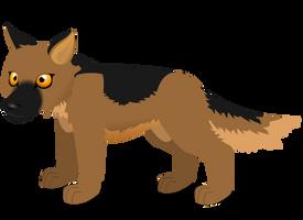 german shepherd A by PurpleRat-YS