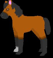 horse foal b by PurpleRat-YS