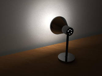 Black Desktop Lamp by StormDragoness