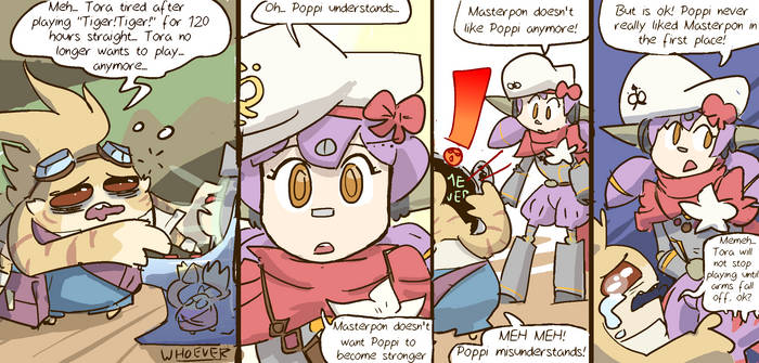 Masterpon worked hard today! by Nobodyelse-is-me