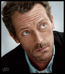 Digital Portrait - Hugh Laurie by Sheridan-J
