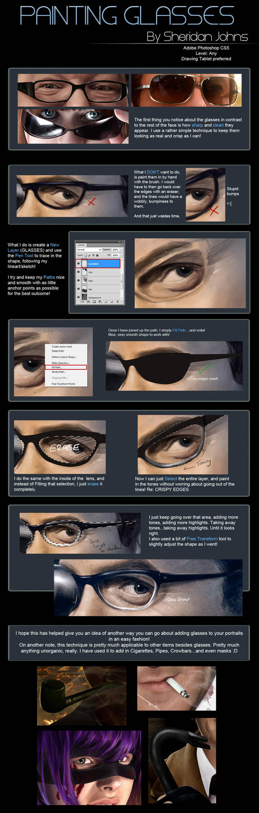 Painting Glasses - Quick Tutorial by Sheridan-J