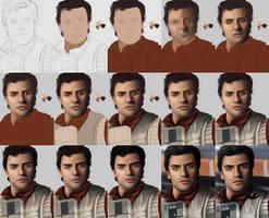 Poe Dameron - Portrait WIPS by Sheridan-J