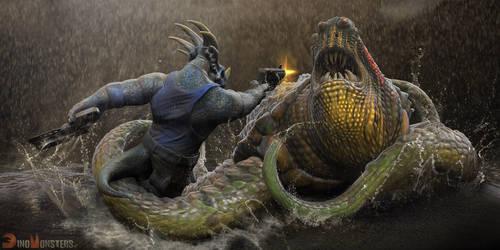 DinoMonsters, Stiks fight by damir-g-martin
