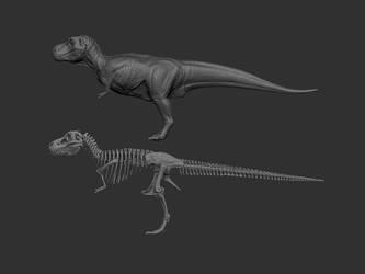 T rex body by damir-g-martin