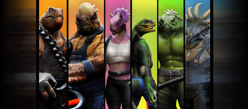 DinoMonsters Crew by damir-g-martin