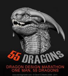 55 dragons marathon by damir-g-martin