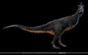 Carnotaurus Sastrei with feathers by damir-g-martin