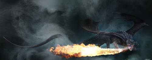 Fire Breathing Dragon by damir-g-martin