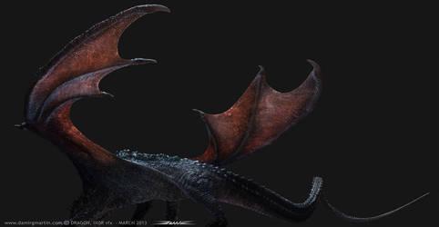 IXOR vfx dragon, test render by damir-g-martin