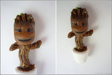Baby groot magnet (Guardians of the Galaxy) by RedAliceCreations