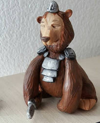 Bear in armor by RedAliceCreations