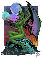 Lady Cthulhu by AndrewJHarmon