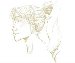 Elf Sketch by dancedancehappyfeet