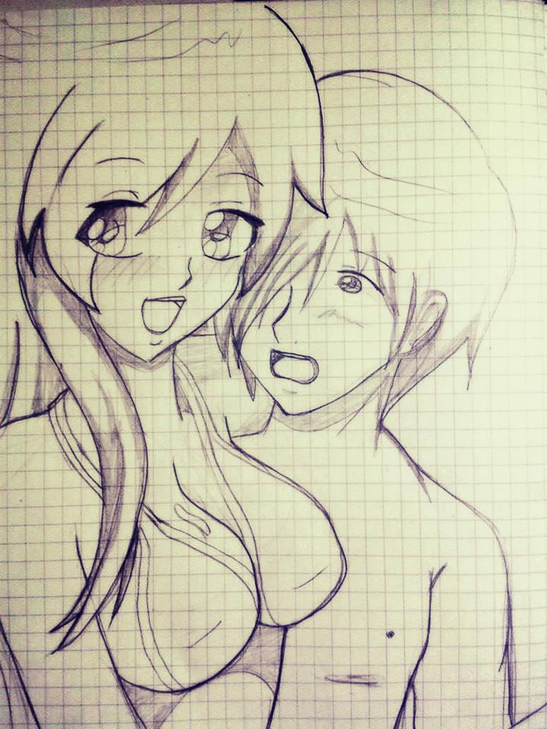 Girl And Boy Drawings Anime