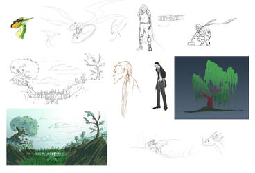 Tumblr Sketches Compilation 01 by Randomonium09