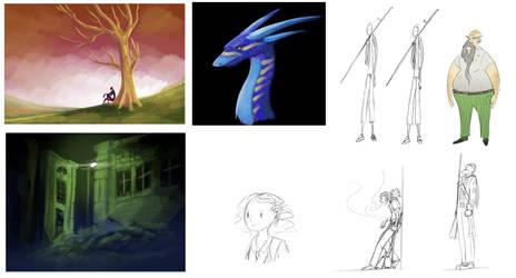 Tumblr Sketches Compilation 02 by Randomonium09