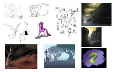 Tumblr Sketches Compilation 03 by Randomonium09