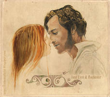 Jane Eyre and Rochester by LizDouceFolie