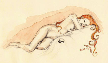Sleeping woman by LizDouceFolie