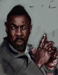 Idris Elba as Luther  W.I.P. by DevonneAmos