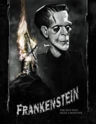 Frankenstein Poster by DevonneAmos