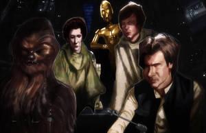 Han Solo - Back In the Mess - Episode VI by DevonneAmos