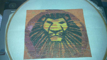 Lion King Cross stitch Complete!! by supershadow666