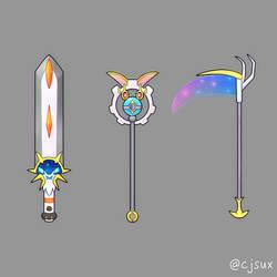 solgaleo sword magearna staff or lunala scythe? by CJsux