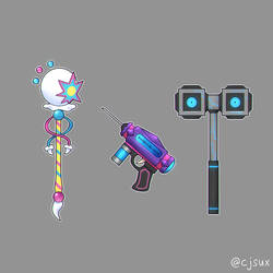 Burst Staff Adhesive Gun or Assembly Hammer? by CJsux