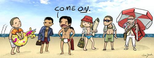 AC Boys at the Beach by coloristjen