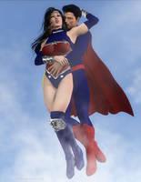 Clark and Diana by artguyjoe