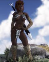 Kendra The Barbarian by artguyjoe