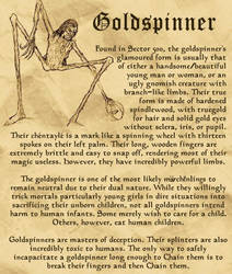 Marchenling Compendium: The Goldspinner by LAKnight89