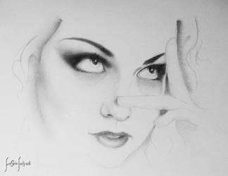 amy lee portrait by sahabiha