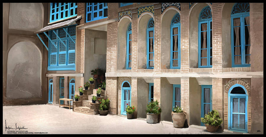 Old Persian House by sahabiha