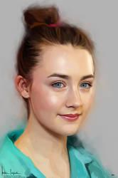 Saoirse Una Ronan by sahabiha