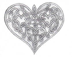 Celtic Knot Heart by AncientBeauty