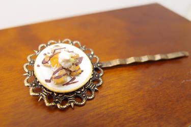 Pastry dessert hair bobby pin hair clip by Nassae