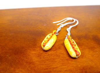 Hotdog earrings by Nassae