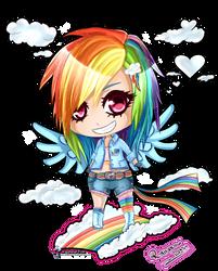 Rainbow Dash Chibi by Kazhmiran